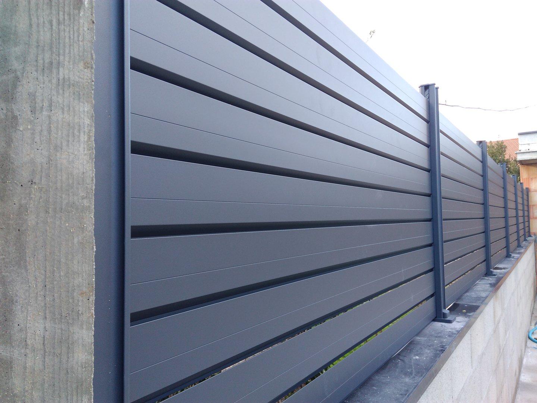Cloture aluminium persienne